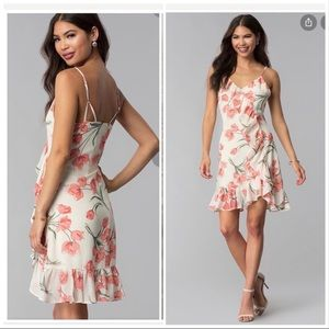 Storia floral dress with side ruffles size